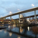 The triple bridges over Hammarby locks - Photo Rikard A